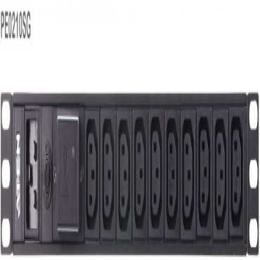 Aten 10 Port 1U Basic Pdu With Surge Protection Supports 15A With 10 Iec C13 Outputs Pe0210Sg-At-G
