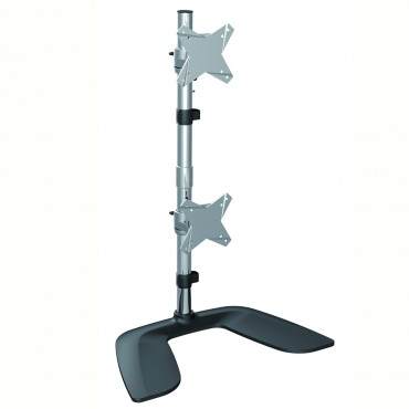 """Brateck Free Standing Dual Vertical Lcd Monitor Stand From 13"""" """" -27"""" Ldt02-T02V"""