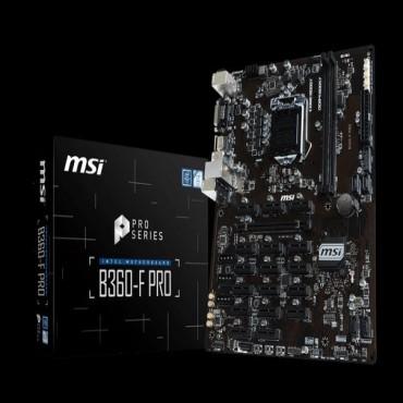 MSI B360-F PRO ATX Motherboard - S1151 8Gen 2xDDR4 18xPCI-E 2xUSB3.1 4xUSB2.0 1xHDMI 1xDVI B360-F