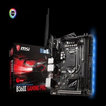 MSI B360I GAMING PRO AC mITX Motherboard - S1151 8Gen 2xDDR4 1xPCI-E 2xM.2 4xUSB3.1 2xUSB2.0 1xDP