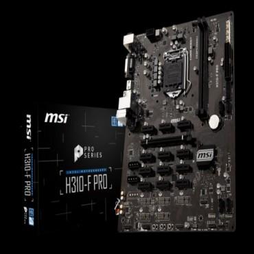 MSI H310-F PRO ATX Motherboard - S1151 8Gen 2xDDR4 13xPCI-E 2xUSB3.1 4xUSB2.0 1xDVI 1xHDMI H310-F