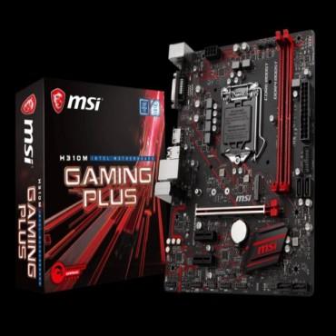 MSI H310M GAMING PLUS mATX GAMING Motherboard - S1151 8Gen 2xDDR4 3xPCI-E 1xM.2 2xUSB3.1 4xUSB2.0
