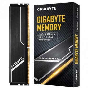 Gigabyte Gaming Memory 8Gb (1X8Gb) Ddr4 2666Mhz C16 1.2V 16-16-16-35 Xmp 2.0 Dual Channel Kit Aluminum Black Heatsinks Pc Desktop Ram Gp-Gr26C16S8K1Hu408