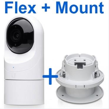 Ubiquiti Unifi Protect – G3 Flex + Flex Ceiling Mount Up-Flex-Mnt-Bun