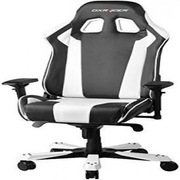 Dxracer King Ks06 Gaming Chair - Neck/ Lumbar Support Black & White Oh/Ks06/Nw