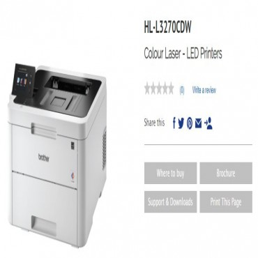 Brother Hl-l3270cdw Wireless Nfc Connectivity Colour Laser Printer & 2.7 Colour Lcd Supports 2-sided