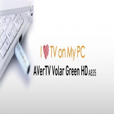 Avermedia A835 Volar Green Hd Usb Digital Tv Tuner With Remote. H.264/ Mpeg-2 Hdtv Up To 1080i