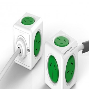 Allocacoc Powercube Extended 5 Outlets 3M Green (Ls) 5304/Auexpcgr