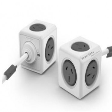Allocacoc Powercube Extended 5 Outlets 3M Grey (Ls) 5304/Auexpcgrey