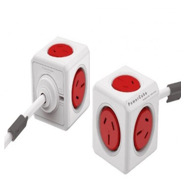 Allocacoc Powercube Extended 5 Outlets 3M - Red (3979) (Ls) 5304/Auexpc-Red