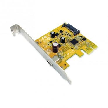 Sunix Usb2311C Usb3.1 Enhanced Superspeed Single Port Pci Express Host Card With Usb-C Usb2311Cc