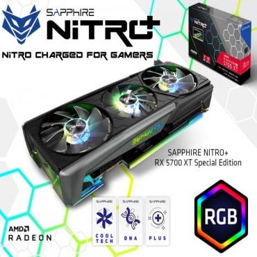 Sapphire Amd Radeon Nitro+ Rx 5700 Xt 8G Gddr6 Dual Hdmi/ Dual Dp Oc (Uefi) Special Edition 285W 2.5 Slots 3 Argb Fans 11293-05-40G