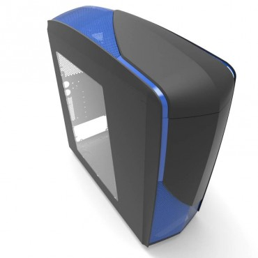 """NZXT NZXT Phantom 240 Black/ BlueATX Mid-Tower with window 2x USB3.0 3x 120mm fans 6x 3.5""""/ 2.5"""