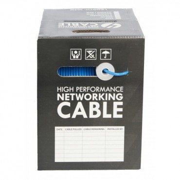 Cat 6A S/ FTP Cable Roll 305m w/ PVC Jacket on Reel: Blue SLD.C6ASFTP.BLUE