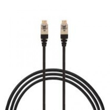 0.75M Cat 6A Rj45 S/Ftp Thin Lszh 30 Awg Network Cable. Black