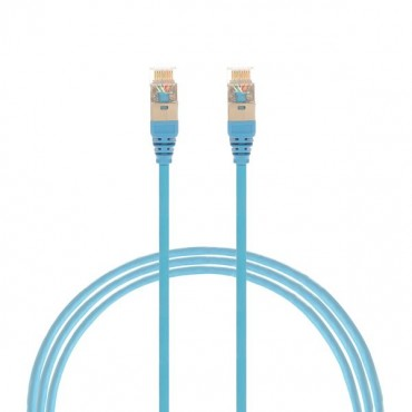 0.75M Cat 6A Rj45 S/Ftp Thin Lszh 30 Awg Network Cable. Blue