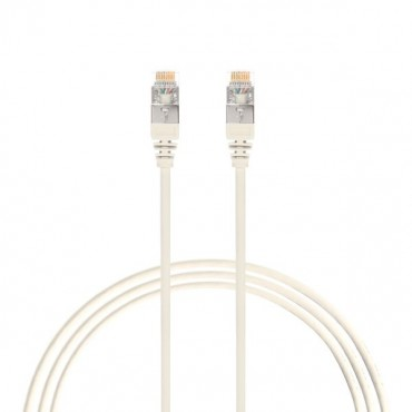 2.5M Cat 6A Rj45 S/Ftp Thin Lszh 30 Awg Network Cable. White