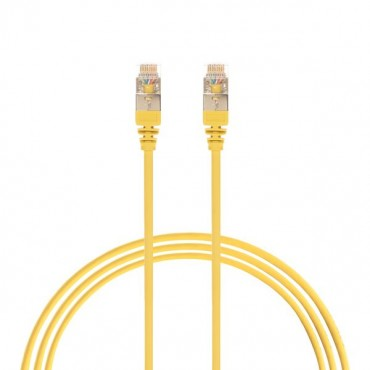 2.5M Cat 6A Rj45 S/Ftp Thin Lszh 30 Awg Network Cable. Yellow