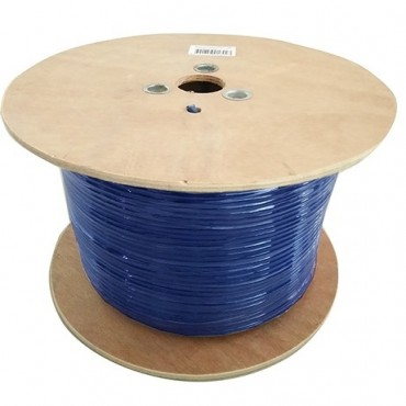8Ware Cat6A Underground/External Shield Cable Roll 350m Blue Bare Copper Twisted Core PVC Jacket Cat6A-Ext350Blush
