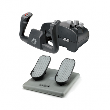 Ch Aviator Pack Includes Both The Flight Sim Yoke (usb) & Pro Pedals (usb)
