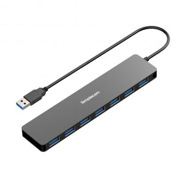 Simplecom Ch372 Ultra Slim Aluminium 7 Port Usb 3.0 Hub Black Ch372-Bk