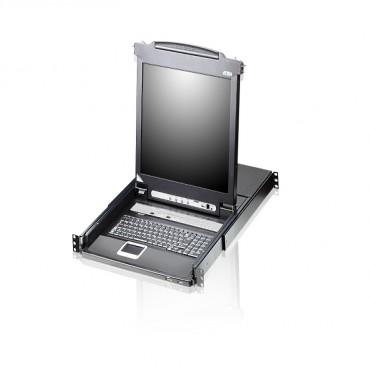 Aten (CL5708M-ATA-AU) SINGLE RAIL 8P PS/ 2-USB LCDKVMP 17INCH W/ USA KB/ AU CL5708M-ATA-AU