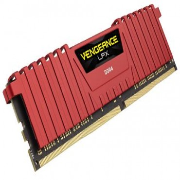 Corsair DUAL CHANNEL :16GB (2x8GB) DDR4-3200MHz Red Vengeance LPX Dimm 16-18-18-36 2x288-pin CMK16GX4M2B3200C16R