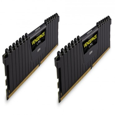 Corsair DUAL CHANNEL: 32GB (2x16GB) DDR4 DRAM Vengeance LPX DIMM 2400MHz Unbuffered 14-16-16-31