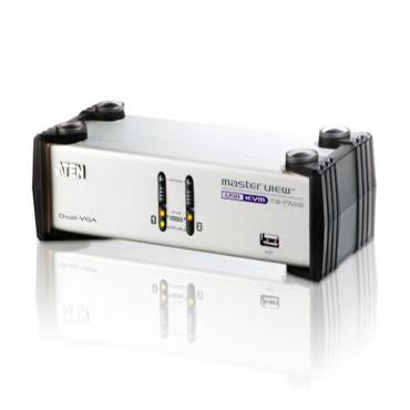 Aten Cs-1742 2 Port Dual View Kvm Switch/ 2 Vga Out