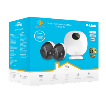 D-Link Indoor/ Outdoor Wire-Free Camera Kit Dcs-2802Kt