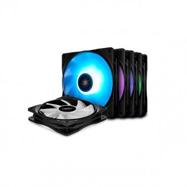 Deepcool 120Mm Rf120M Rgb 1500Rpm Fan 5 Pack Dp-Frgb-Rf120-5C-M