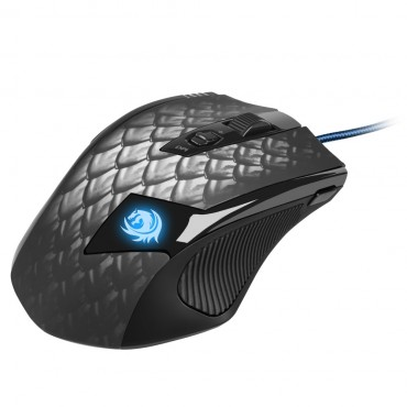 Sharkoon Gaming Mouse: 8200Dpi Avago Adns-9800 Laser Sensor Usb Wired Drakonia Black