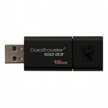 KINGSTON DT100G3/ 16GBFR 16GB USB 3.0 DATATRAVELER 100 GEN 3 FLASH DRIVE DT100G3/16GBFR