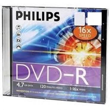 Philips DVD-R 1-16X JEWEL CASE 4.7GB 120 minute video bundle 10pc DVD-R-JC 10pc