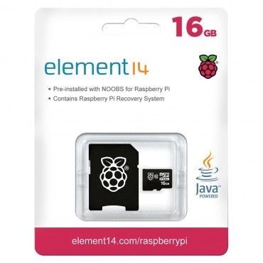 16Gb Microsd Card Preloaded With Noobs (V2) Os Installer For Raspberry Pi E14-2842115