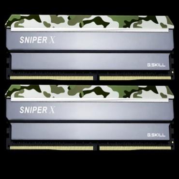 G.skill Sniperx 16g Kit (2x8g) Pc4-19200 / Ddr4 2400mhz 17-17-17-39 1.2v Forest F4-2400c17d-16gsxf
