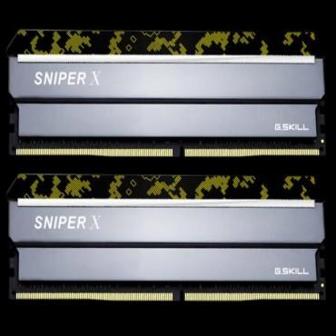 G.skill Sniperx 16g Kit (2x8g) Pc4-19200 Ddr4 2400mhz 17-17-17-39 1.2v Dimm F4-2400c17d-16gsxk