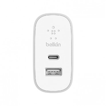 Belkin Dual Port Home Charger 39W Plus Usb-C To Usb-A Cable Usb Type-C F7U061Au-Slv