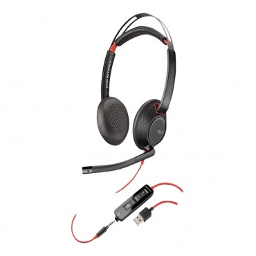 PLANTRONICS BLACKWIRE C5220 STEREO UC USB HEADSET W/ 3.5MM 207576-01