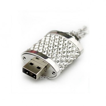 16gb Crystal Lock Pendant Usb Flash Drive Pen Stick Memory (silver) Fusezc16gpendnt