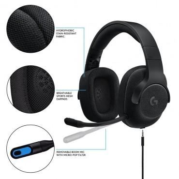 Logitech 981-000670: Logitech G433 7.1 Surround Sound Wired Gaming Headset LOGHSTG433