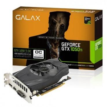 Galax GeForce GTX1050 Ti OC PCI-E 4GB GDDR5 128 BIT DVI-D/ HDMI/ DP GLX-GTX1050TIOC-4G