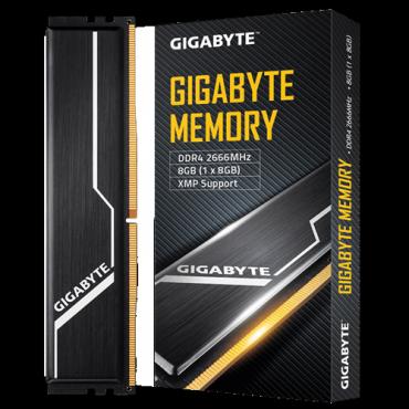 GIGABYTE Memory 8GB (1x8GB) 2666MHz (GP-GR26C16S8K1HU408)