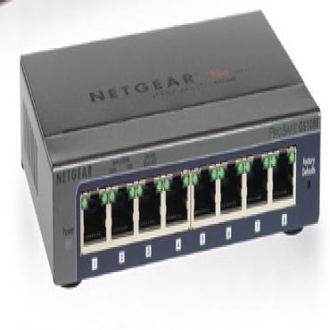 Netgear Gs108Pe (Prosafe Plus 8-Port Gigabit Switch With 4-Port Poe) Gs108Pe-300Aus