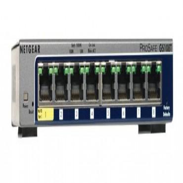 Netgear Gs108t-v2 Gs108t-200aus, 8-port Full Duplex Gigabit Smart Switch