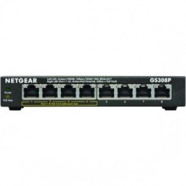 Netgear Soho 8-port Gigabit Unmanaged Switch With 4-port Poe Gs308p-100aus