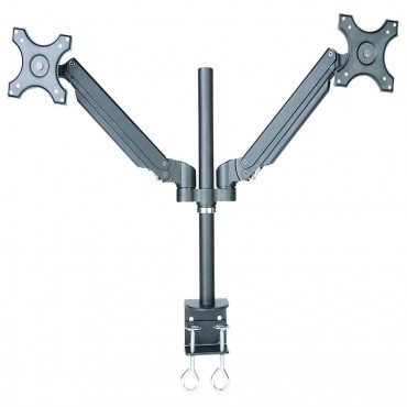 """Speed Gas Spring 13"""" - 27"""" Dual Monitor Arm Up To 10Kg Per Each Vesa 100X100 Life Wty Mnt-Speed-Gs351/D"""