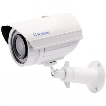 Geovision 84-EBL2100-2020 GV-EBL2100-2F 2MP H.264 Low Lux IR Bullet IP Camera, 3.8mm Lens
