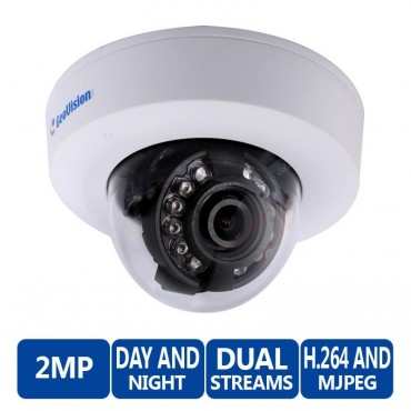 Geovision 2 Megapixel H.264 WDR IR Mini Fixed IP Dome Camera GV-EFD2100-0F