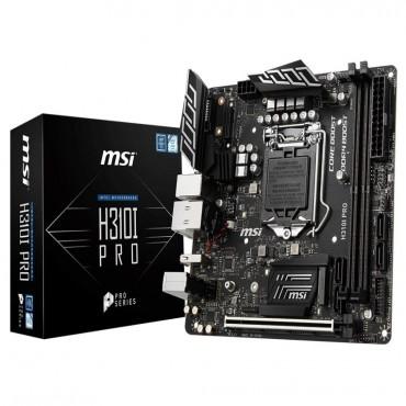 MSI Pro Series Intel Coffee Lake H310 LGA 1151 DDR4 Onboard Graphics Mini ITX Motherboard  H310I